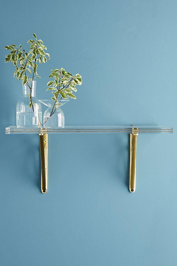 Phenomenal Brass Inlay Lucite Shelf Anthropologie Interior Design Ideas Clesiryabchikinfo