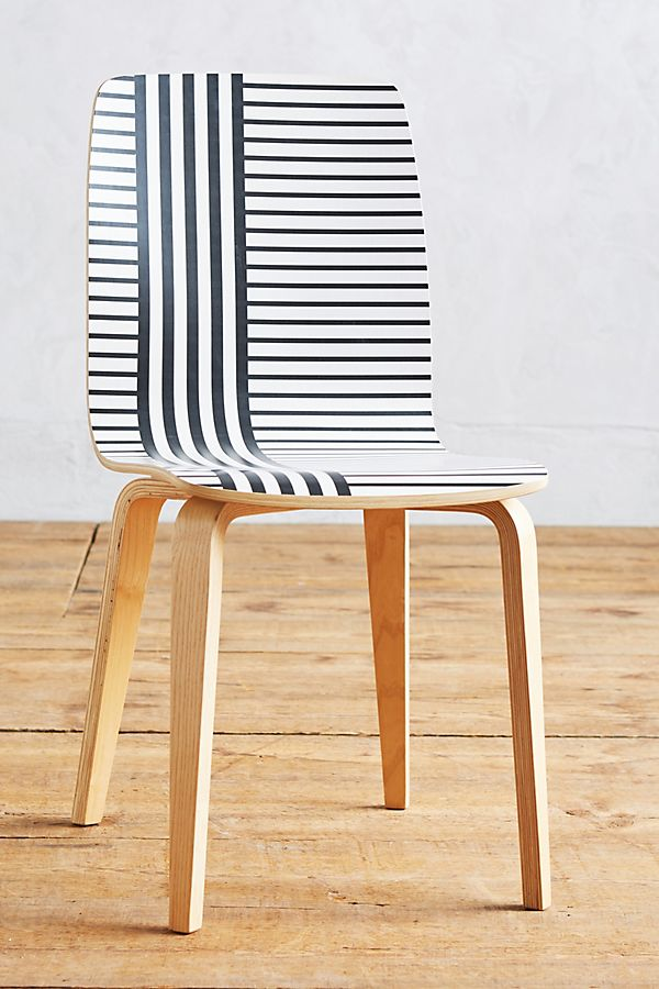 Striped Tamsin Dining Chair by Anthropologie