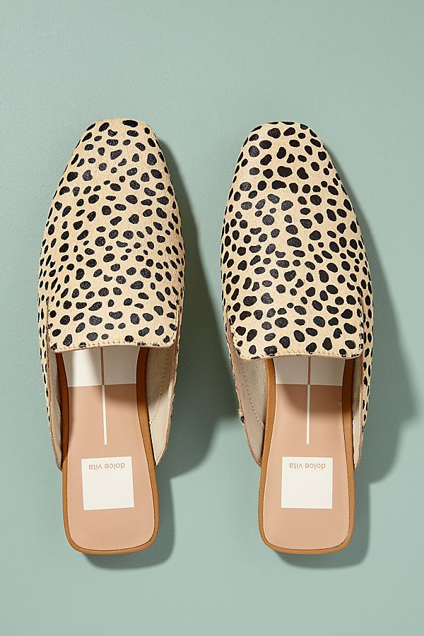 22eb2021db55 Dolce Vita Leopard-Print Slip-on Flats | Anthropologie UK