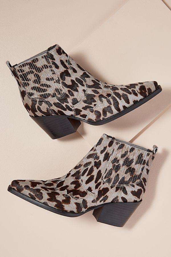 0b8fb5116 Sam Edelman Calf-Hair Leopard-Print Ankle Boots