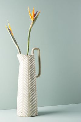 Lineal Pitcher Vase by Anthropologie