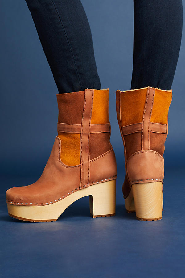 151f00d4dff56 Swedish Hasbeens Hippie Platform Clog Boots   Anthropologie
