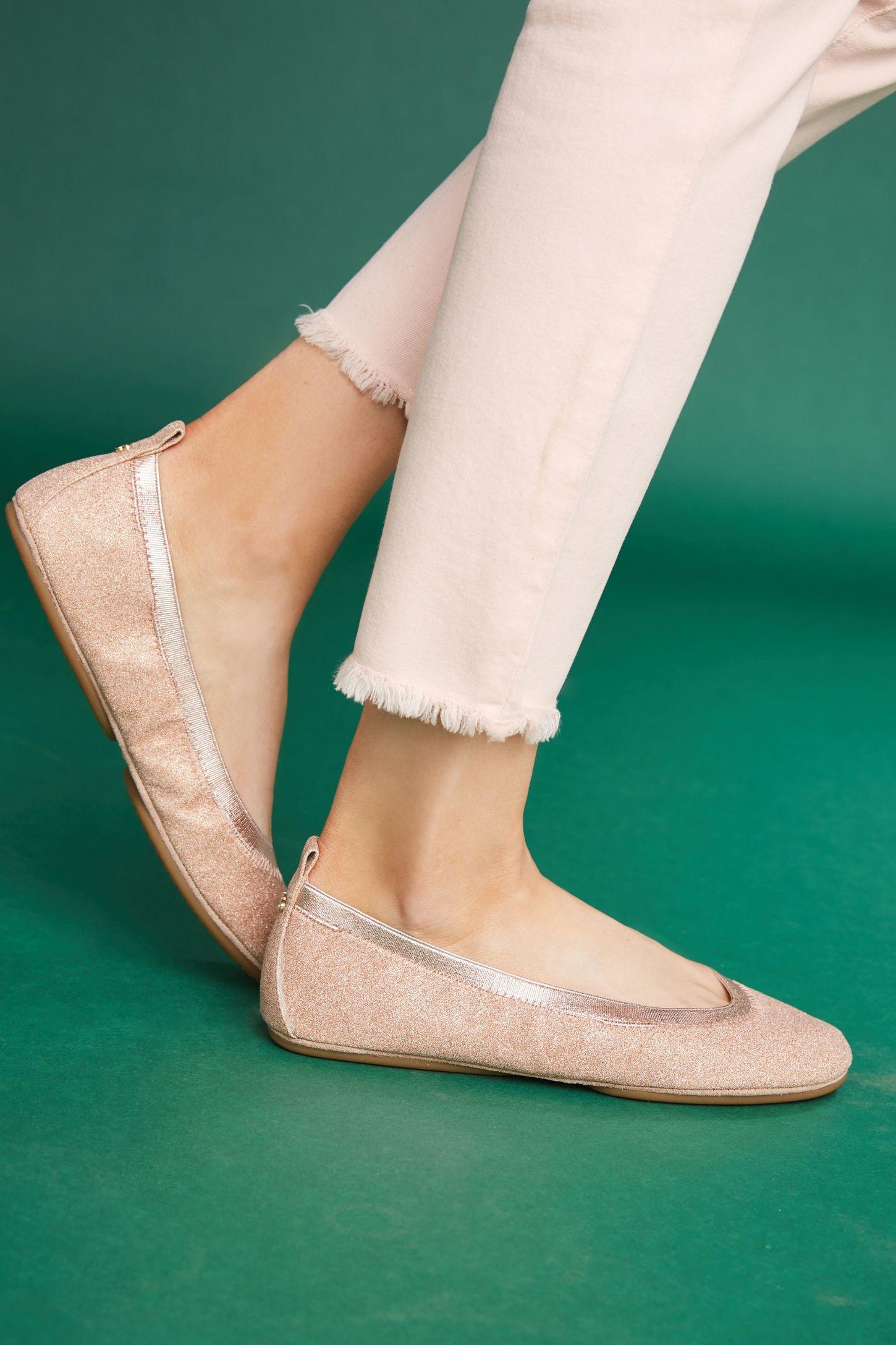 a1f2fb2a4fb Yosi Samra Glitter Ballet Flats