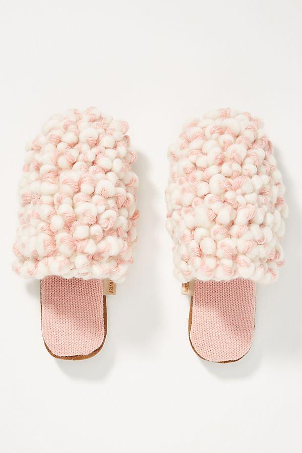 Slide View: 1: Ariana Bohling Looped Knit Slide Slippers