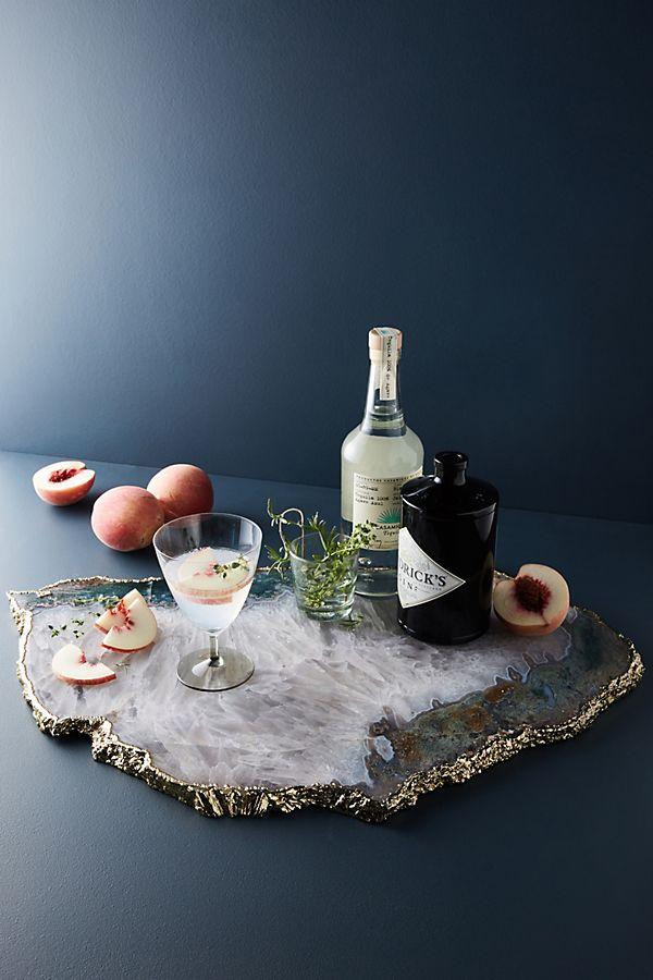 Slide View: 1: Agate Quartz Serving Board