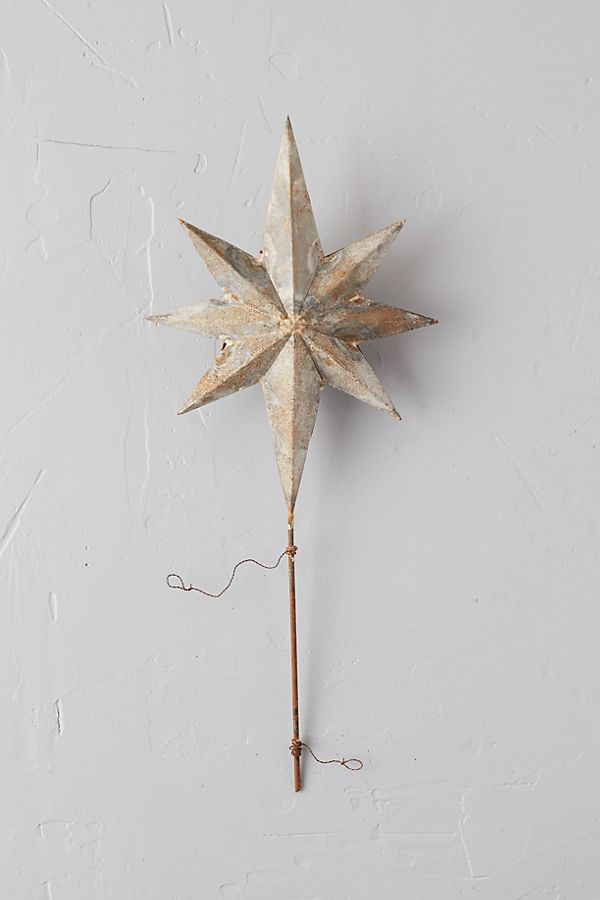 Aged Iron Star Tree Topper by Anthropologie