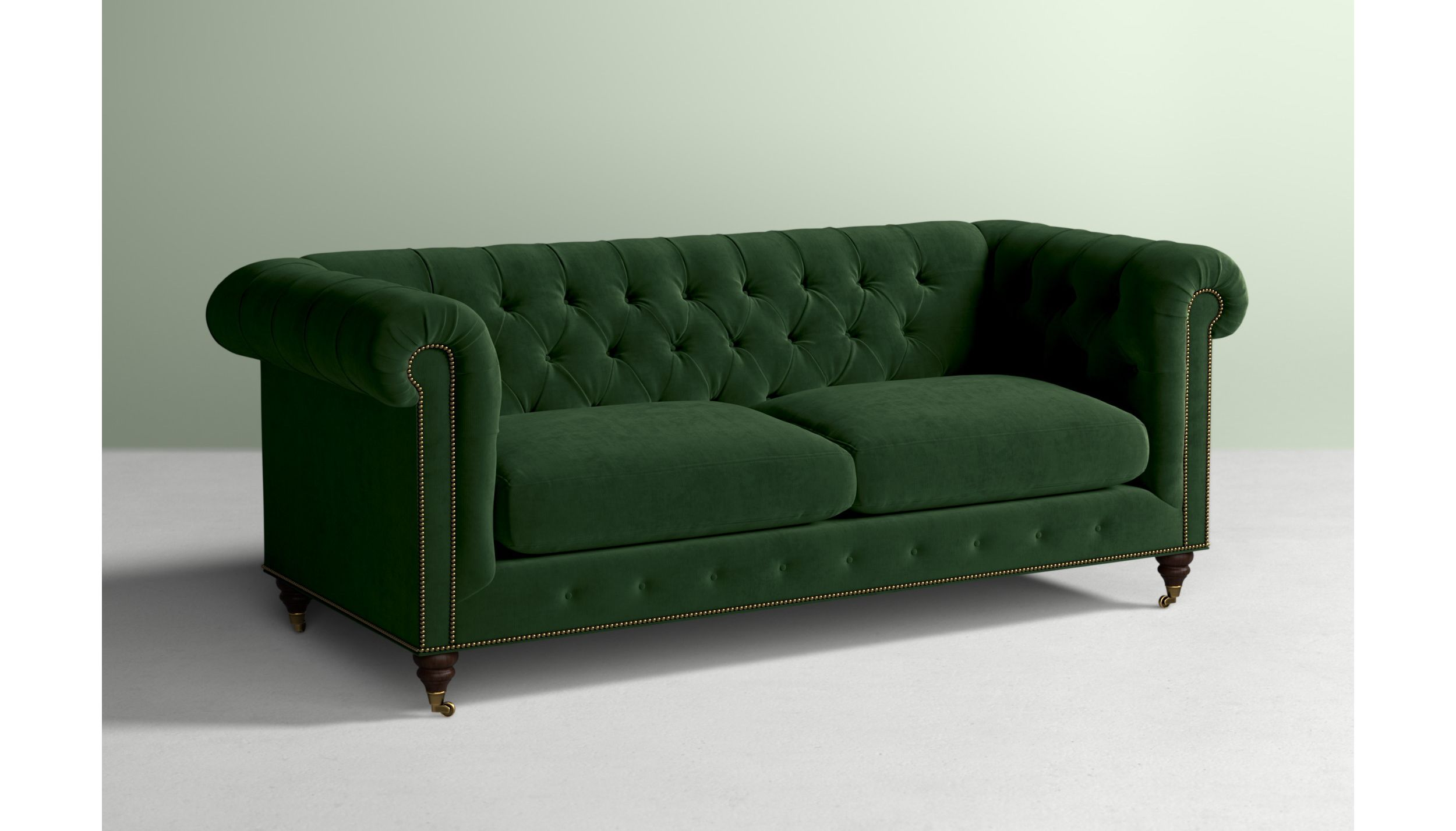 Lyre Chesterfield Two-Cushion Sofa | Anthropologie