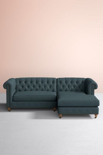 Lyre Chesterfield Chaise Sectional