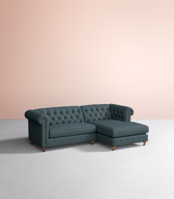 Lyre Chesterfield Chaise Sectional Anthropologie