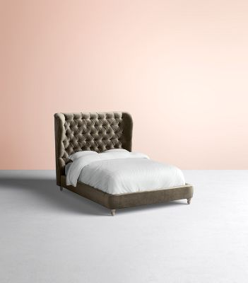 Tufted Wingback Bed Anthropologie