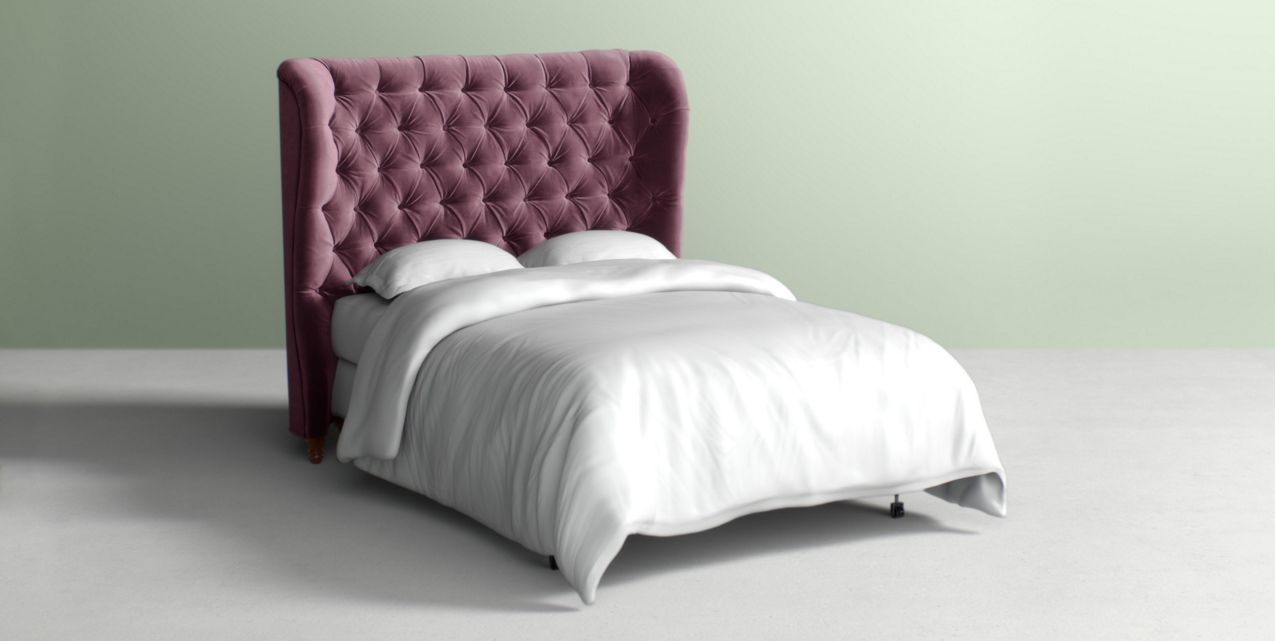 newest collection 1948c 18fac Tufted Wingback Headboard