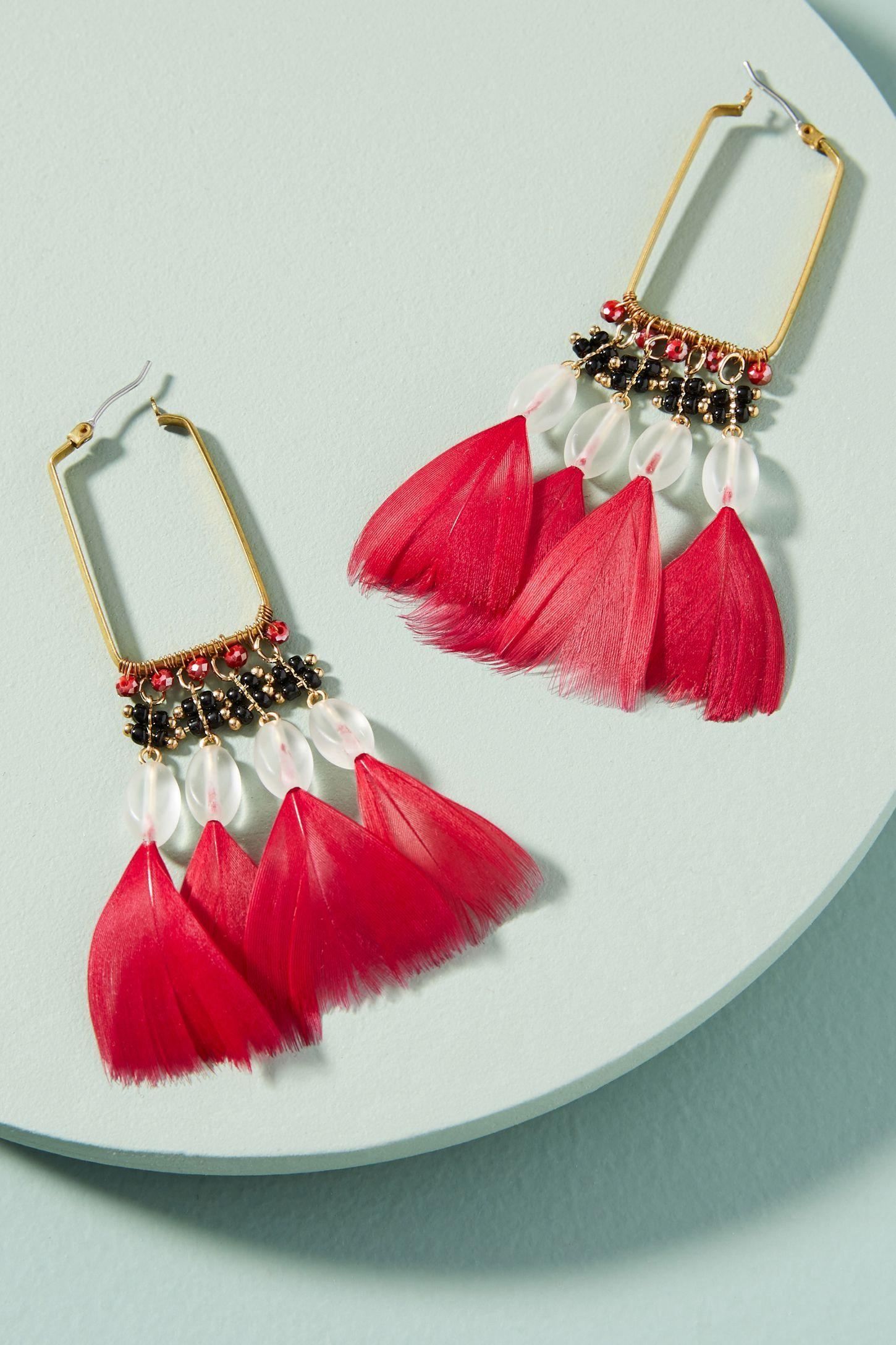 c3f7fd038 Hera Feather Drop Earrings   Anthropologie