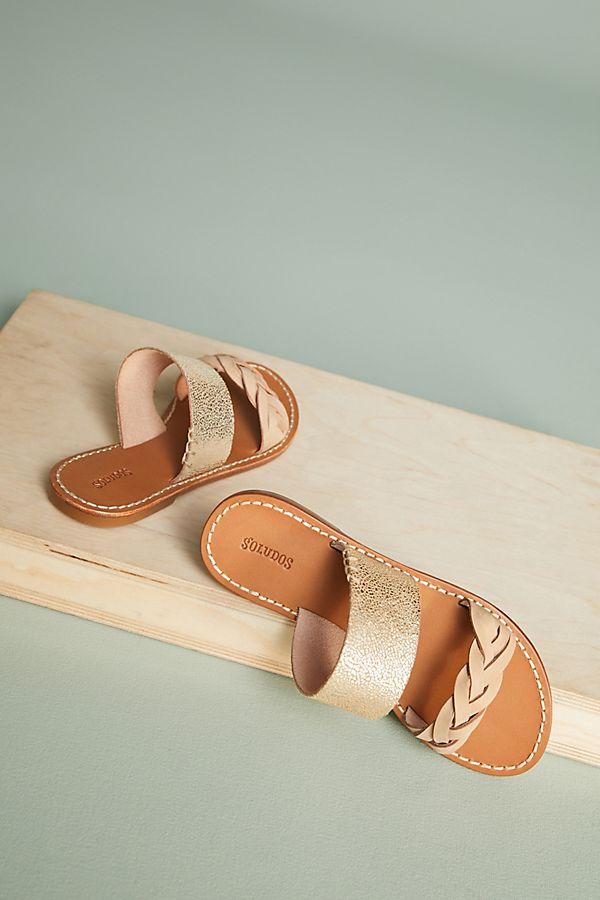 a52f225aec04 Soludos Metallic Braided Slide Sandals