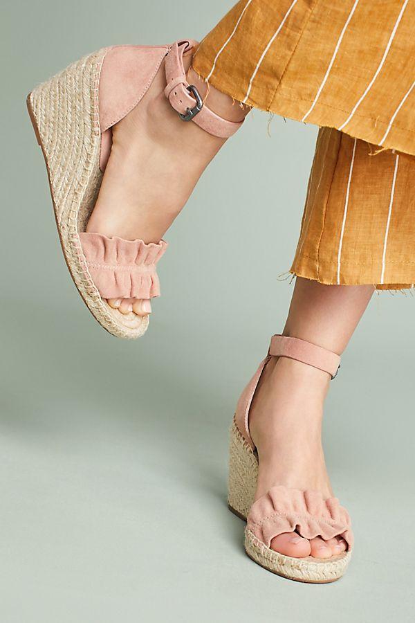 66f399189fb Splendid Bedford Ruffle Wedge Sandals