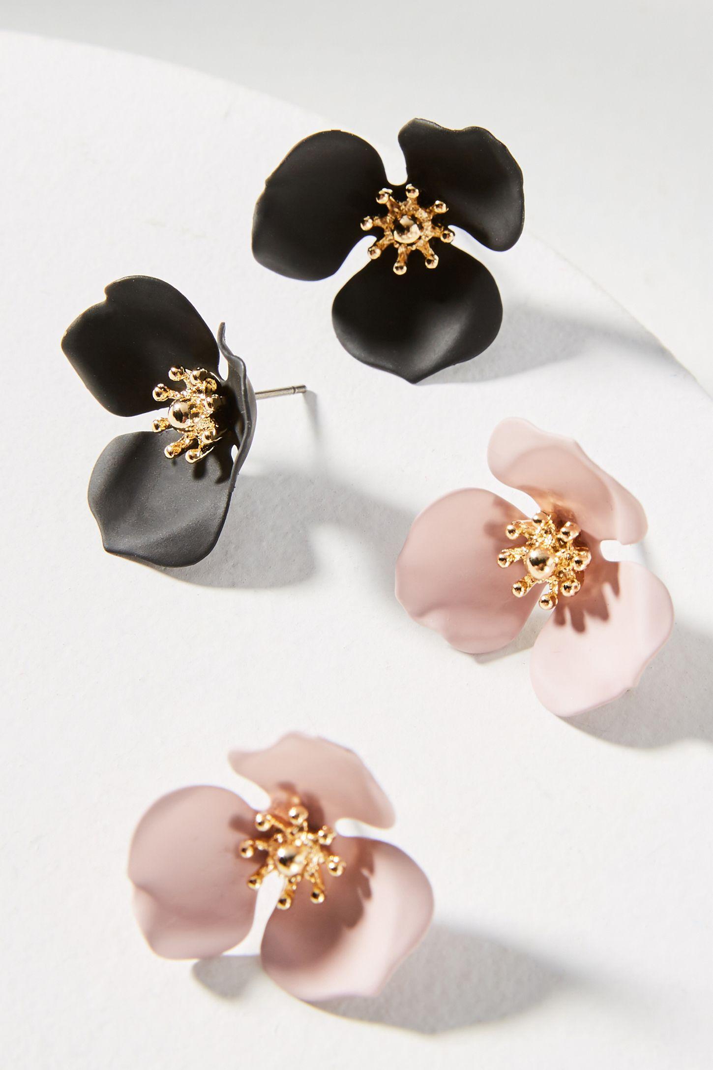 95c818f9facd Dogwood Flower Post Earring Set