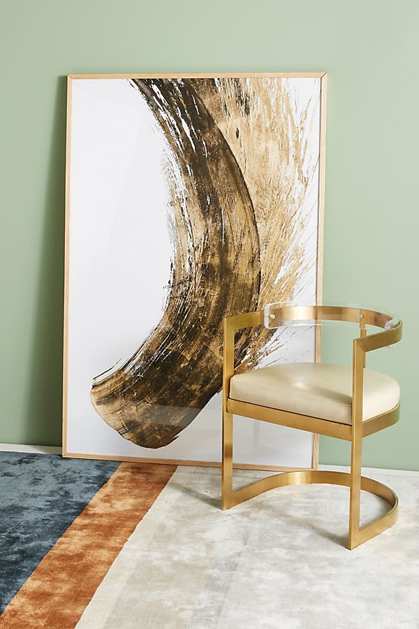 Slide View: 1: Gold Movement Wall Art