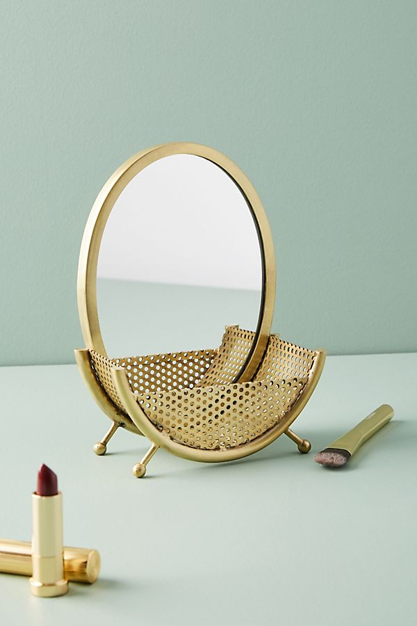 Circle Mirror Jewelry Stand Holder Top-Rated Home Accessories under $50 Anthropologie