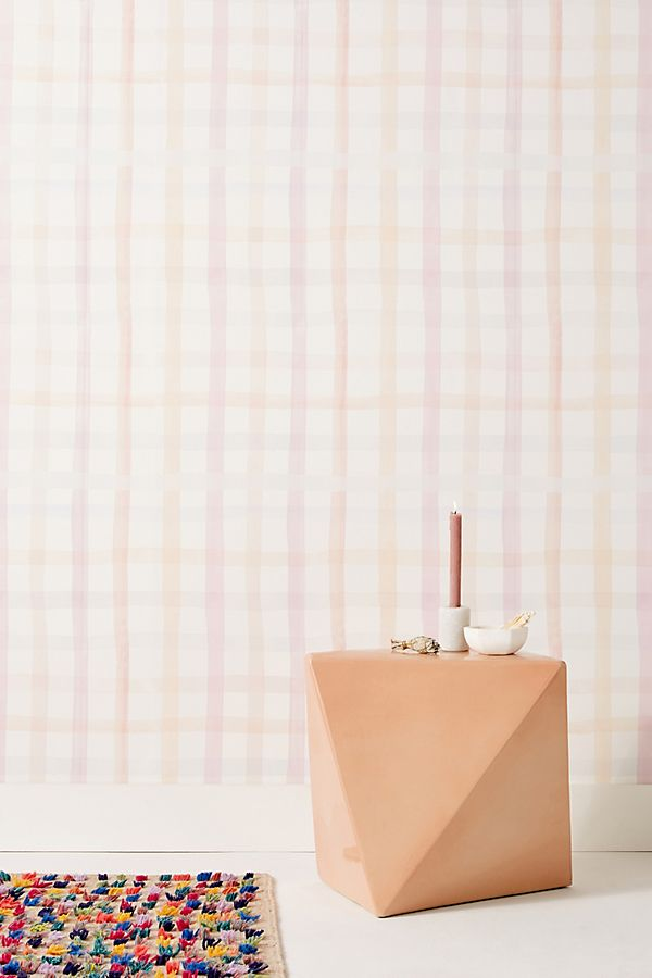 Slide View: 1: Anthropologie Maria Gingham Wallpaper