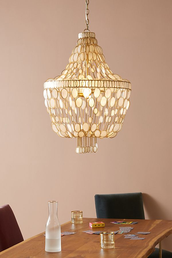 Oval Capiz Chandelier