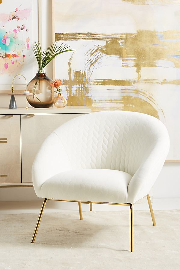 Quilted Hillside Accent Chair Anthropologie