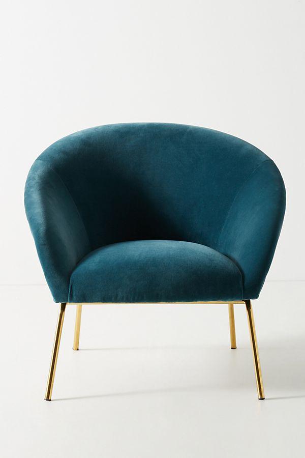 Velvet Hillside Accent Chair Anthropologie