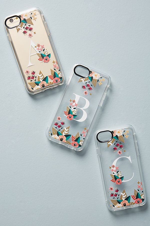 hot sale online c101f 51e4e Casetify Floral Monogram iPhone Case | Anthropologie