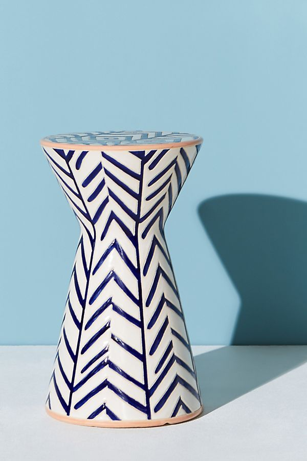 Slide View: 1: Twill Ceramic Indoor/Outdoor Side Table