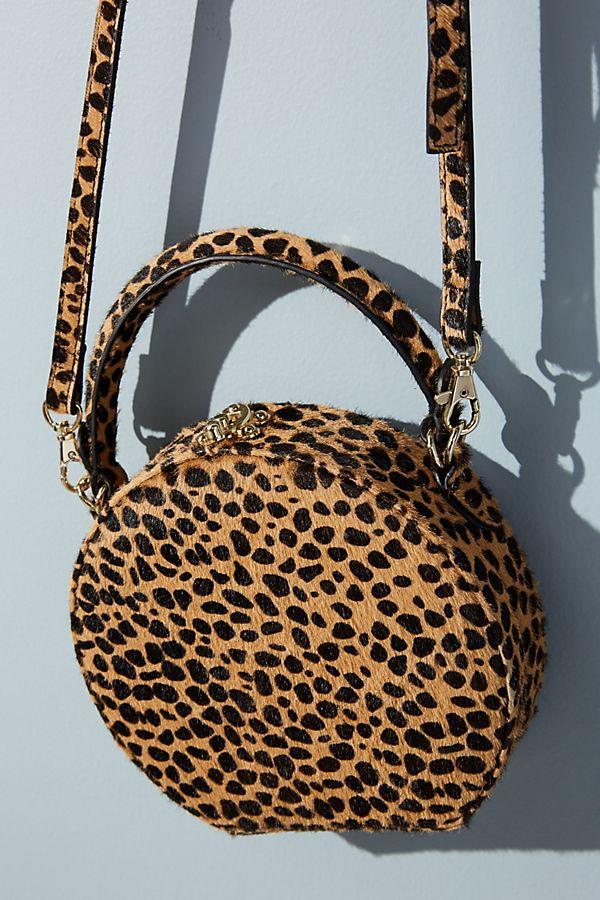 161394f9c4df Circular Leopard-Print Crossbody Bag | Anthropologie