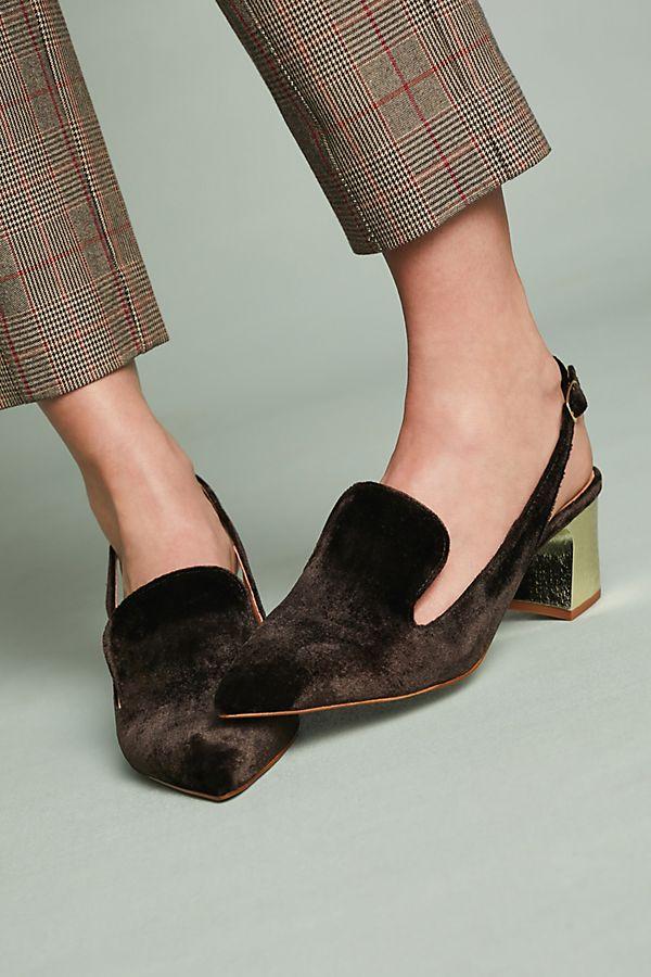 f60d63b688ca Intentionally Blank Velvet Kina Slingback Loafers