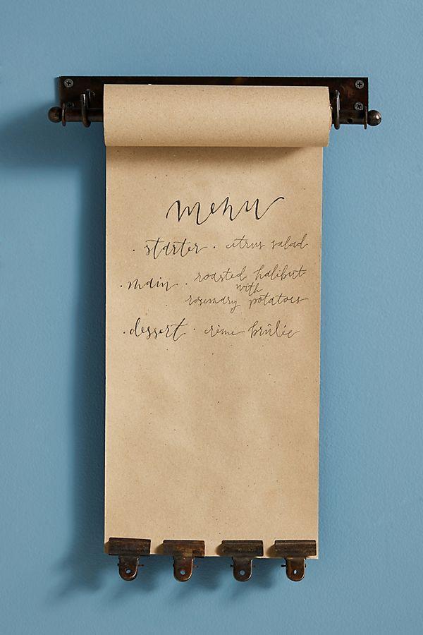 Slide View: 1: Kraft Paper Roll Holder + Clip Set