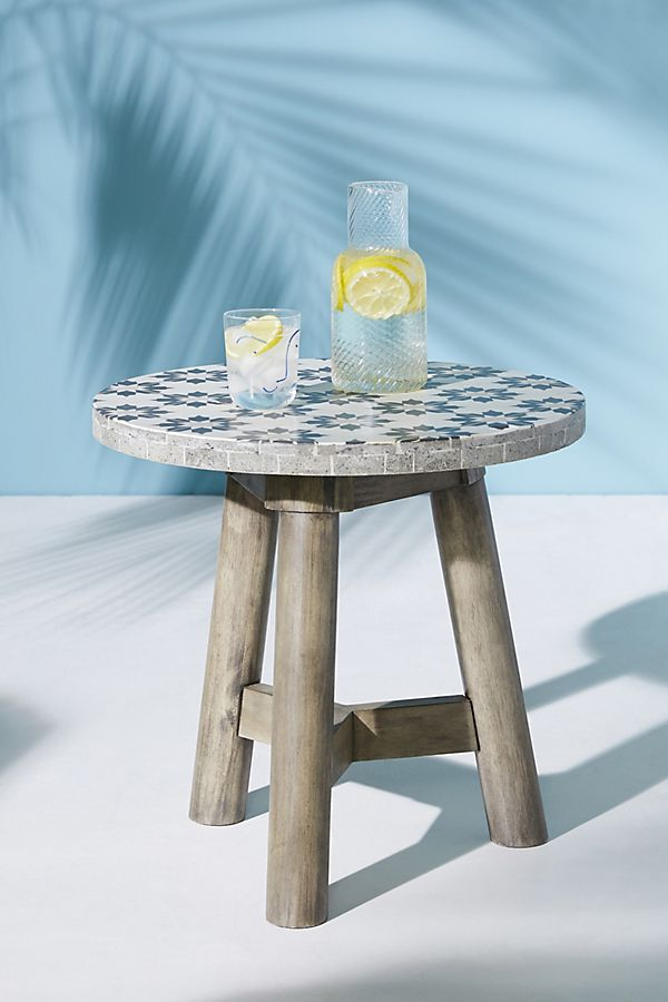 Pleasant Marrakech Indoor Outdoor Side Table Inzonedesignstudio Interior Chair Design Inzonedesignstudiocom