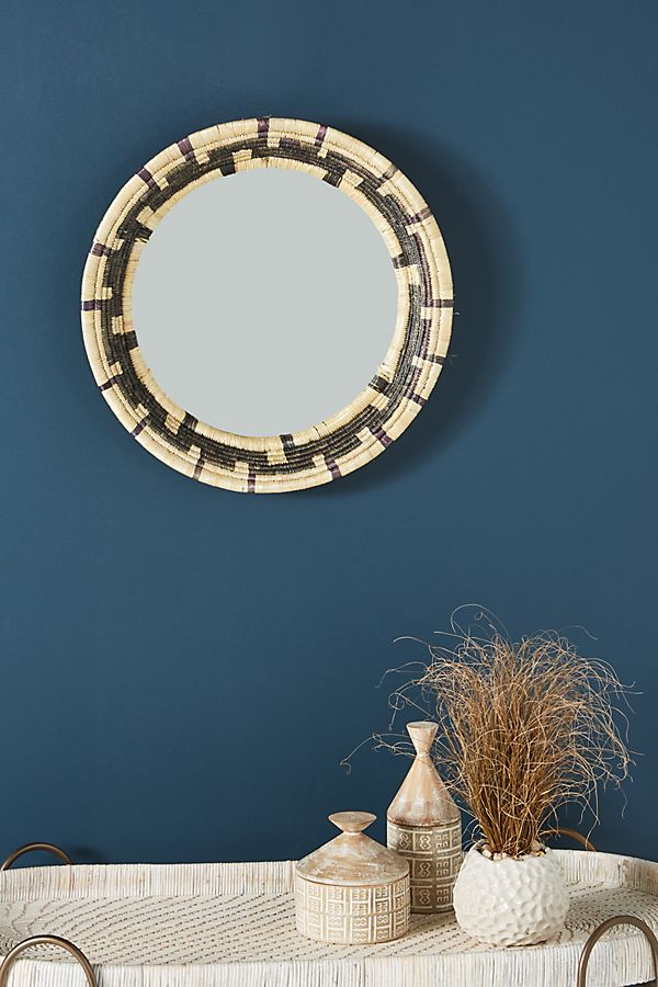Slide View: 1: Handwoven Aubrey Mirror