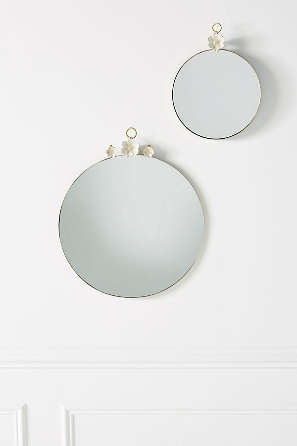 Slide View: 1: Paige Ceramic Flower Mirror