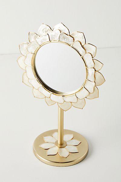 Penny Ombre Capiz Vanity Mirror