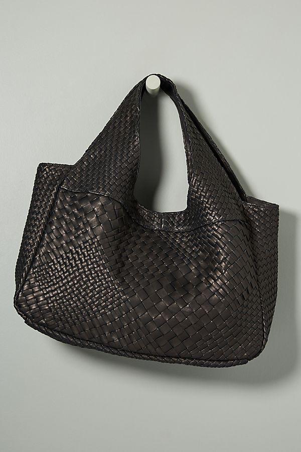 f2c505d65e93 Pablo Woven Leather Shoulder Bag