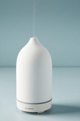 Vitruvi White Stone Essential Oil Diffuser Anthropologie