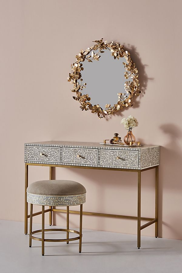 Outstanding Scroll Vine Inlay Vanity Table Evergreenethics Interior Chair Design Evergreenethicsorg