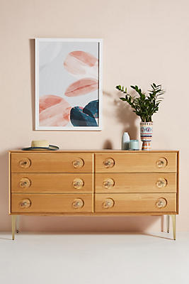 Carraway Six Drawer Oak Dresser by Anthropologie
