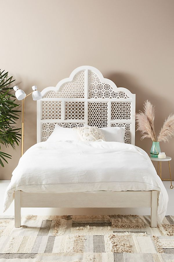 Slide View: 1: Jali-Carved Bed