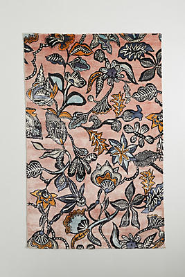 Hand Knotted Lola Viscose Rug by Anthropologie