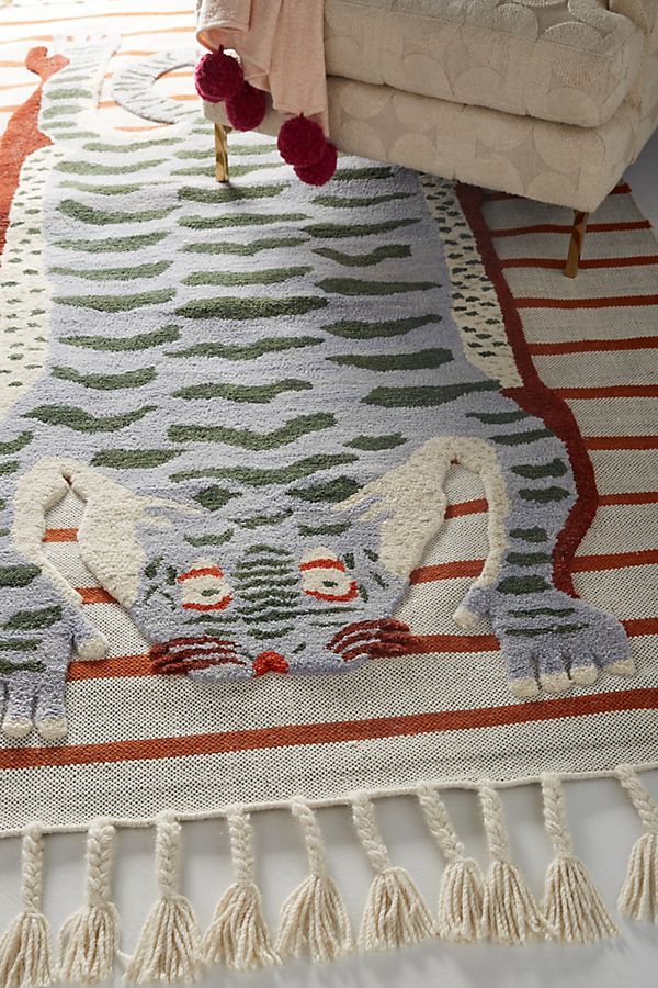 Slide View: 2: Flatwoven Martine Rug