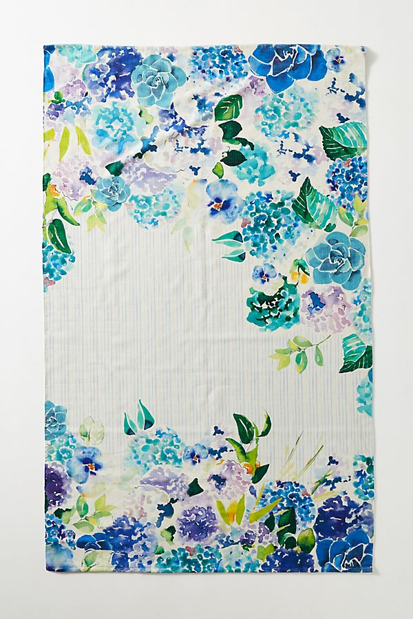 Slide View: 1: Sarah Hackinson Pansies Indoor/Outdoor Rug