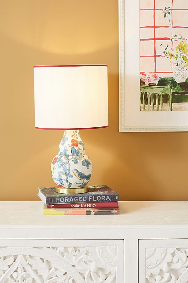 Slide View: 1: Molly Hatch Flower Patch Table Lamp