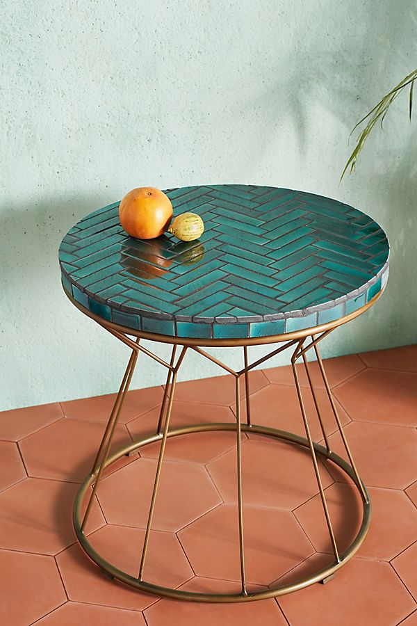 Slide View: 1: Hourglass Side Table