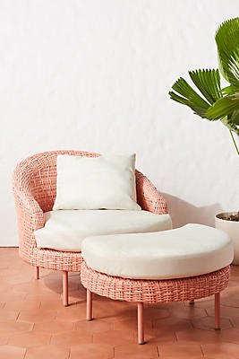 Lilith Chair & Ottoman by Anthropologie