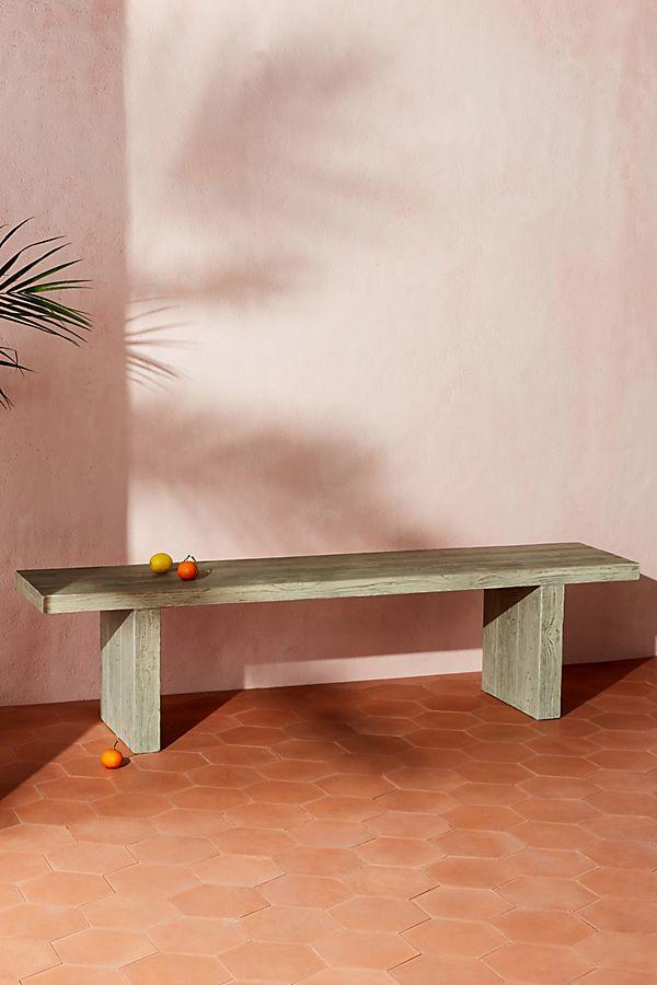 Awesome Concrete Dining Bench Inzonedesignstudio Interior Chair Design Inzonedesignstudiocom