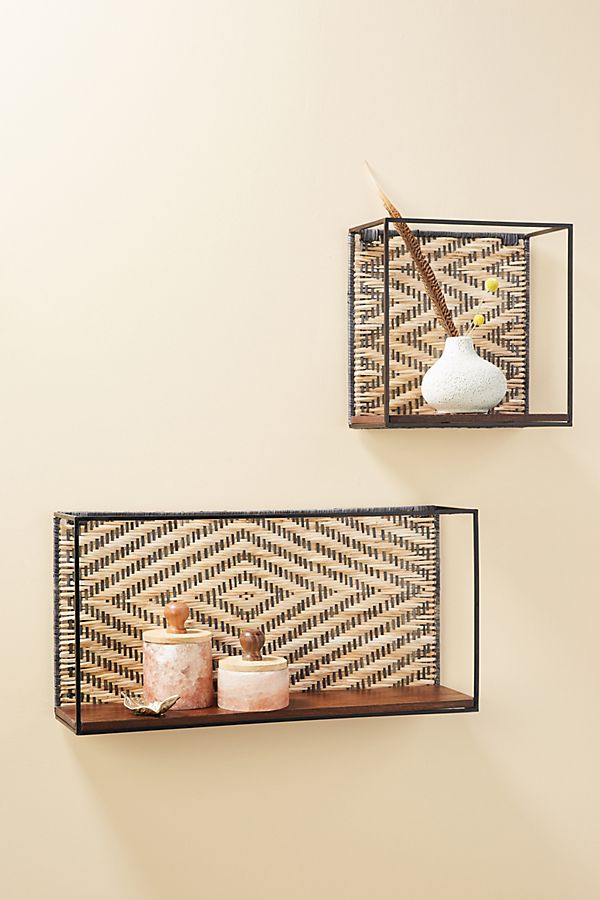 Slide View: 3: Polly Shadow Box Shelf