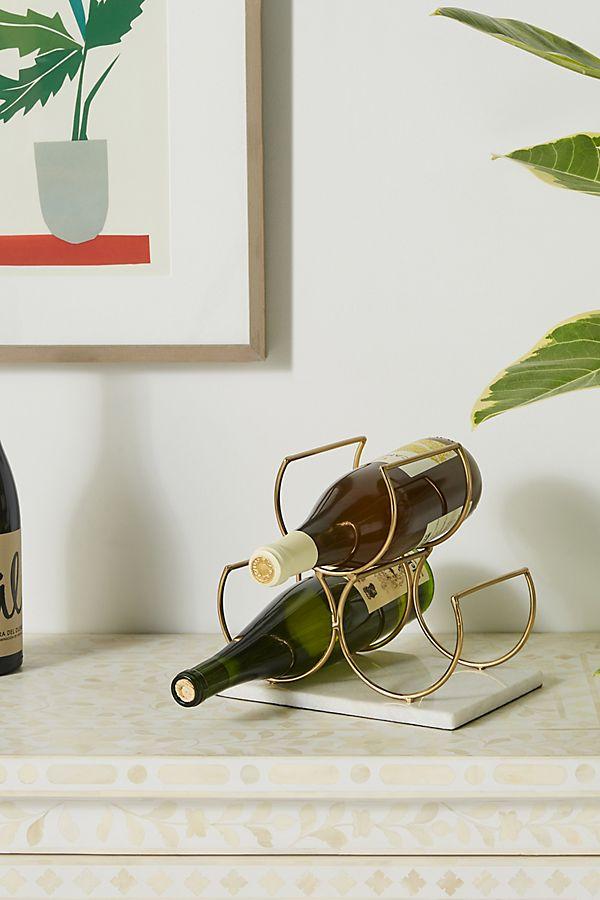 Slide View: 1: Brass Wine Rack
