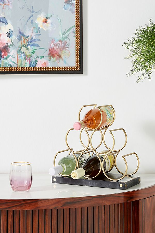 Slide View: 1: Mother-of-Pearl Inlay Wine Rack