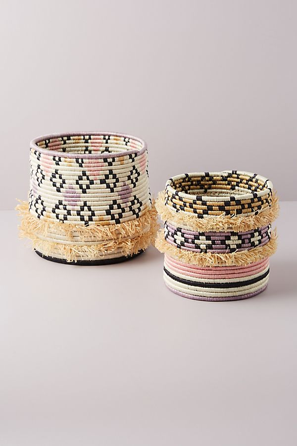 Slide View: 1: Rose Desert Fringe Basket